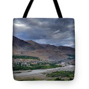 Indus River And Kargil City Leh Ladakh Jammu Kashmir India Tote Bag