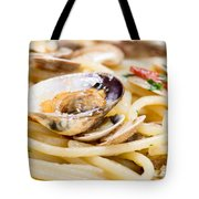 Italian Spaghetti And Clams Made In Naples Tote Bag