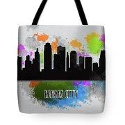 Kansas City Skyline Silhouette Tote Bag
