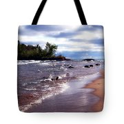 Lake Superior Shoreline Tote Bag