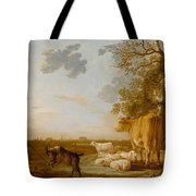 Landscape With Cattle Tote Bag