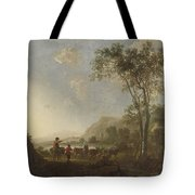 Landscape With Herdsmen And Cattle Tote Bag