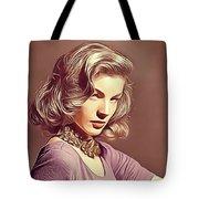 Lauren Bacall, Vintage Actress Tote Bag
