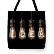 Light Bulb Background Tote Bag