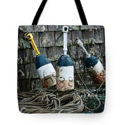 Lobster Buoys Tote Bag
