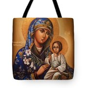 Madonna Enthroned Religious Art Tote Bag