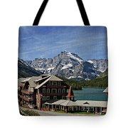 Many Glacier Hotel Tote Bag