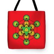 Metatron's Cube With Merkaba Tote Bag