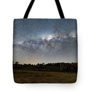 Milky Way Over A Farm Shed Tote Bag