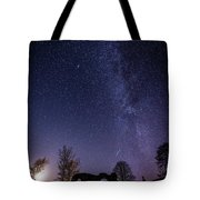 Milky Way Over The Ruins Of Strata Florida Abbey, Wales Uk Tote Bag