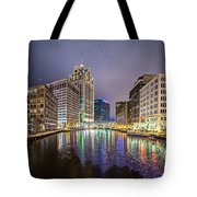 Milwaukee Wisconcin City And Street Scenes Tote Bag