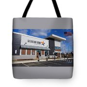 Mission Bbq Tote Bag