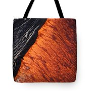 Molten Pahoehoe Lava Tote Bag