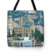 Monte Carlo Cityscape Tote Bag