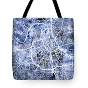 Nashville Tennessee City Map Tote Bag