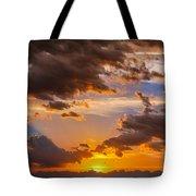 Nebraska Hp Supercell Sunset Tote Bag