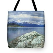 Panoramic View Of Ushuaia, Tierra Del Tote Bag
