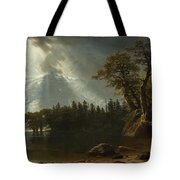 Passing Storm Over The Sierra Nevadas Tote Bag