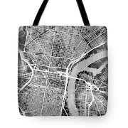 Philadelphia Pennsylvania Street Map Tote Bag
