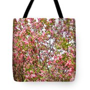 Pink Cherry Tree Tote Bag
