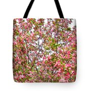 Pink Cherry Tree Tote Bag