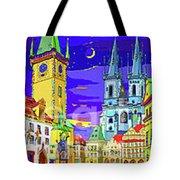 Prague Old Town Square Tote Bag