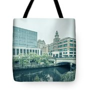 Providence Ri City Skyline Autumn Season Tote Bag