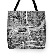 Quad Cities Street Map Tote Bag