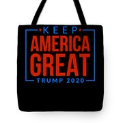 Reelect Trump For President Keep America Great Dark Tote Bag