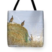 4 Roosters And A Hen Tote Bag