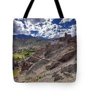 Ruins At Basgo Monastery Leh Ladakh Jammu And Kashmir India Tote Bag