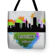 San Francisco Skyline Silhouette Tote Bag