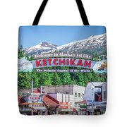 Scenery Around Alaskan Town Of Ketchikan Tote Bag
