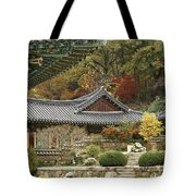 Seonamsa In Autumn Tote Bag