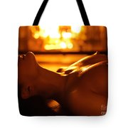 Sexy Naked Woman Under Melting Icicles Tote Bag