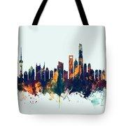 Shanghai China Skyline Tote Bag