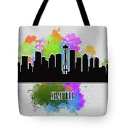 Seattle Skyline Silhouette Tote Bag