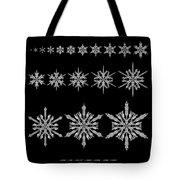 Snowflake Simulation Tote Bag