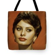 Sophia Loren, Vintage Actress Tote Bag