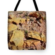 Splash Of Color In Valley Of Fire Tote Bag