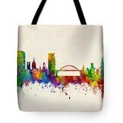 Sunderland England Skyline Tote Bag
