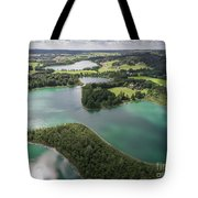 Suwalki Landscape Park, Poland. Summer Time. View From Above. Tote Bag