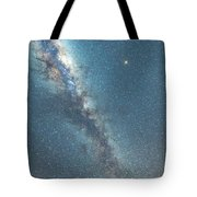The Milky Way And Mars Tote Bag