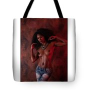 The Red Wall Tote Bag