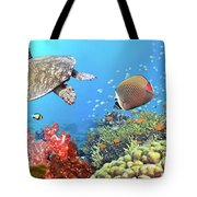 Underwater Panorama Tote Bag