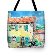 View Of Luberon Tote Bag