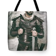 Viking Warrior With Sword Tote Bag