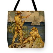 Vintage Recruitment Poster Tote Bag