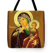 Virgin And Child Art Tote Bag