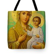 Virgin And Child Icon Christian Art Tote Bag